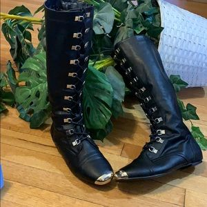 Cos Play, steampunk moto style boot